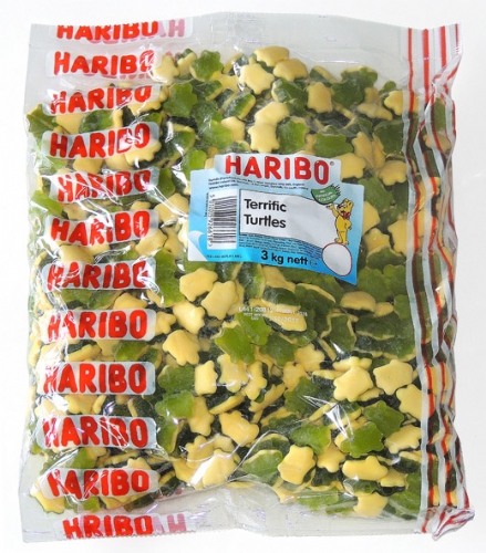 Q45  HARIBO TERRIFIC TURTLES 3kg